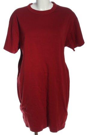 Uniqlo Shirtkleid rot Casual-Look