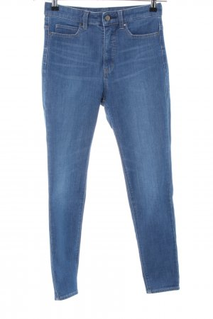 Uniqlo Stretch Jeans blau Casual-Look