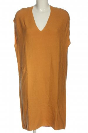 Uniqlo Robe en maille tricotées orange clair style décontracté