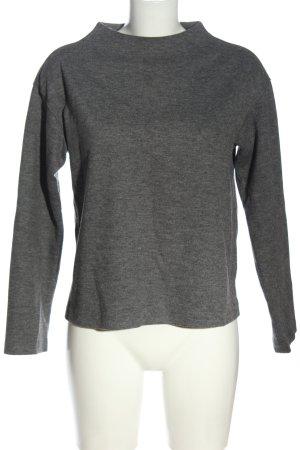 Uniqlo Maglione lavorato a maglia grigio chiaro puntinato stile casual