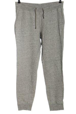 Uniqlo Pantalon de jogging gris clair moucheté style décontracté