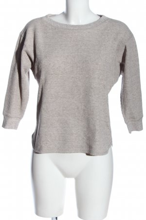 Uniqlo Sweatshirt hellgrau Casual-Look