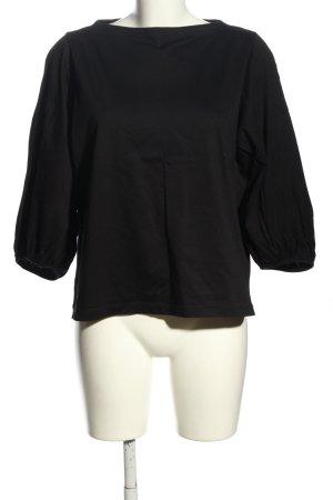 Uniqlo Schlupf-Bluse schwarz Casual-Look