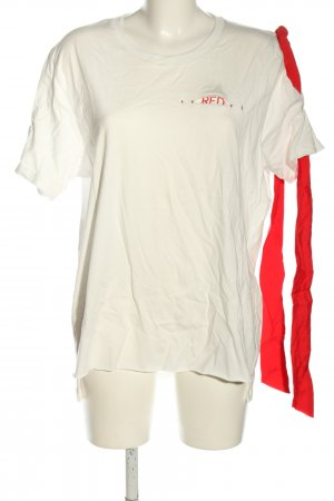 Uniqlo T-Shirt weiß-rot Casual-Look