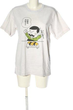 Uniqlo T-Shirt weiß Motivdruck Casual-Look