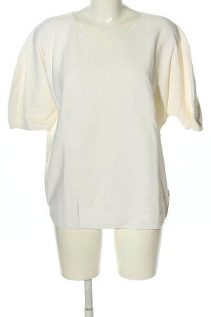 Uniqlo V-Ausschnitt-Pullover weiß Casual-Look