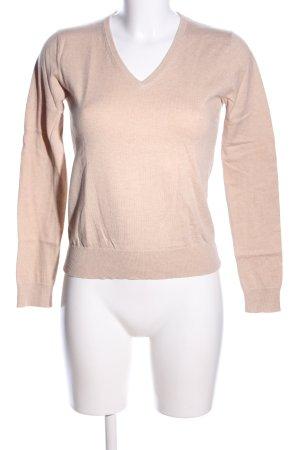 Uniqlo V-Neck Sweater natural white flecked casual look