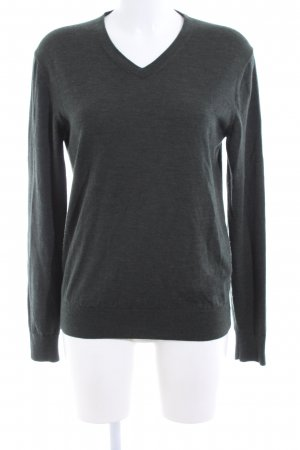 Uniqlo V-Ausschnitt-Pullover khaki meliert Casual-Look