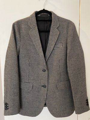 Uniqlo Blazer in lana bianco-nero Lana