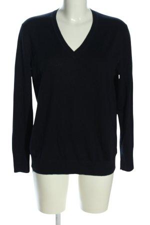 Uniqlo Wollpullover schwarz Casual-Look