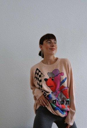 True Vintage Oversized Sweater multicolored linen