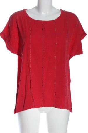 Unique Camicetta a maniche corte rosso stile casual