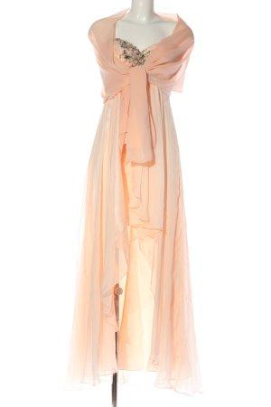 Unique schulterfreies Kleid creme Elegant