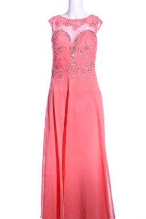 Unique Spitzenkleid pink-silberfarben Elegant