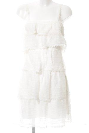 Unique Spitzenkleid weiß Elegant