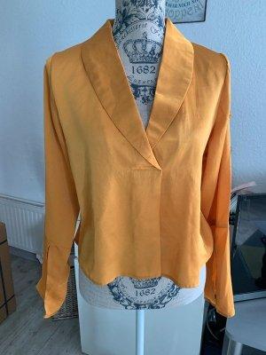 unique21 Blusa brillante giallo-oro-arancione chiaro