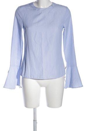 unique21 Schlupf-Bluse blau Allover-Druck Business-Look