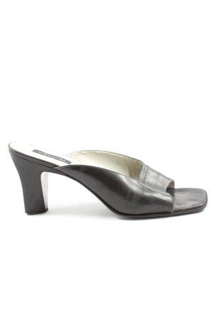 Unisa Heel Pantolettes black business style