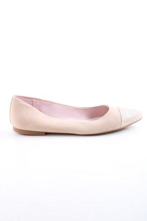 Unisa Ballerinas mit Spitze wollweiß Business-Look