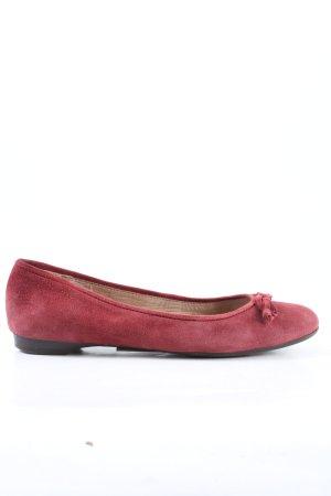 Unisa Ballerina a punta rosso stile casual