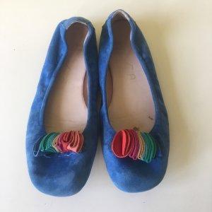 Unisa Ballerinas Wildleder royalblau Gr 38