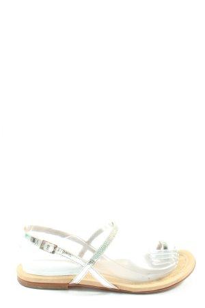 Unisa Dianette sandalen zilver casual uitstraling