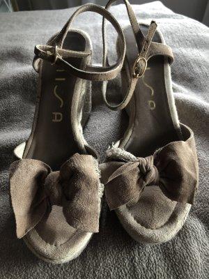 Unisa Espadrilles Sandalen mit Keilabsatz 38