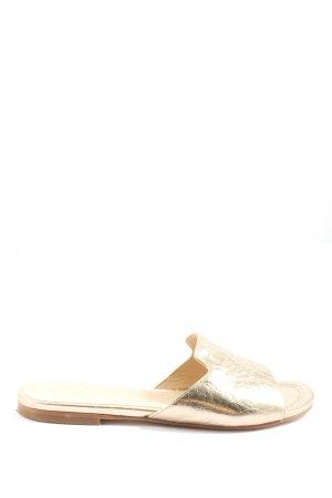 Unisa Sandały plażowe złoto W stylu casual