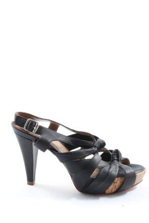 Unisa Hoge hakken sandalen zwart elegant