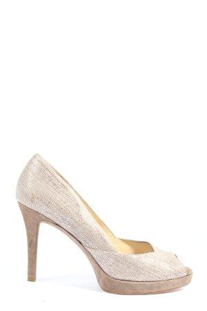 Unisa High Heel Sandaletten silberfarben abstraktes Muster Casual-Look