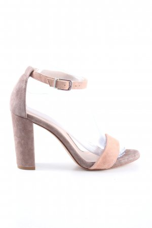 Unisa High Heel Sandaletten creme-hellgrau Casual-Look