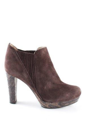 Unisa High Heel Stiefel braun Animalmuster Business-Look