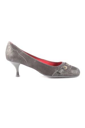 Unisa High Heels hellgrau Casual-Look