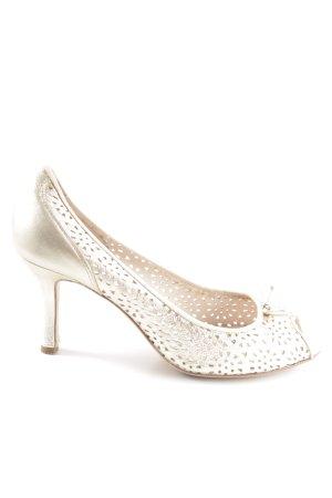 Unisa High Heels goldfarben Business-Look