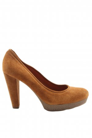 Unisa High Heels braun Business-Look