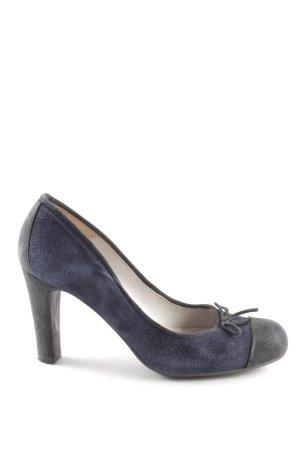 Unisa High Heels blau-schwarz Casual-Look