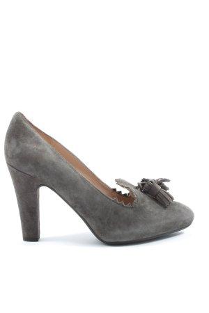 Unisa High Heels hellgrau Business-Look