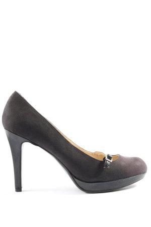 Unisa Chaussure à talons carrés noir style décontracté