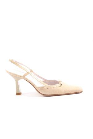 Unisa Chaussure à talons carrés crème style d'affaires