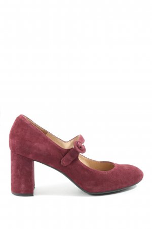 Unisa Escarpins Mary Jane rouge style d'affaires