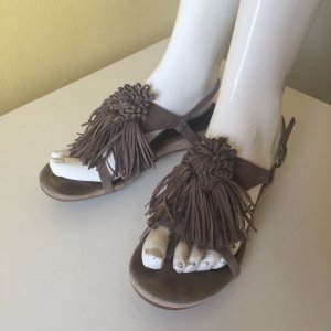 Unisa Dianette Sandals grey brown leather