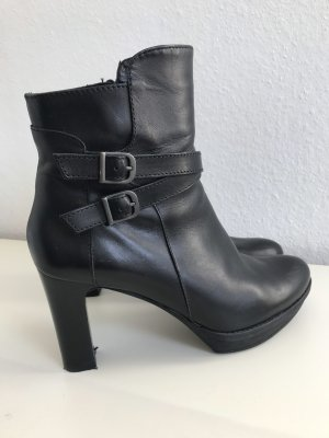 Unisa Leder Stiefeletten wie neu schwarz 38