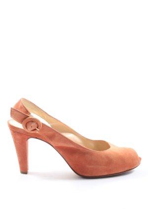 Unisa Peep Toe Pumps light orange casual look