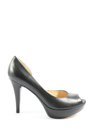 Unisa Peep Toe Pumps black casual look