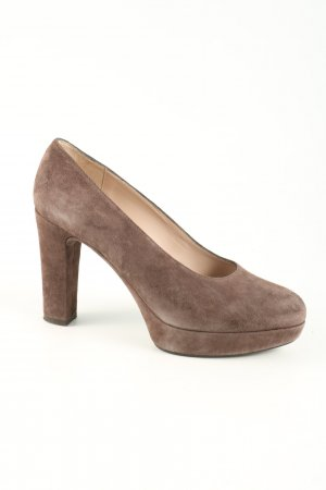 Unisa Plateau-Pumps braun Business-Look