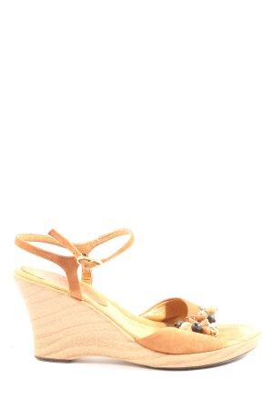 Unisa Sandales à plateforme orange clair style décontracté