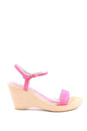 Unisa Platform Sandals pink casual look