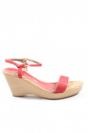Unisa Plateau-Sandalen rot-creme Casual-Look