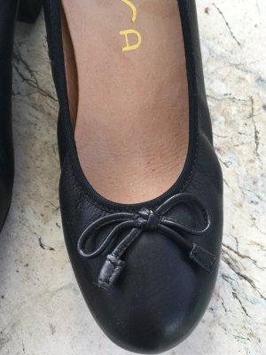 Unisa Pumps  -schwarzes Leder * herausnehmbare Komfortsohle * neuwertig