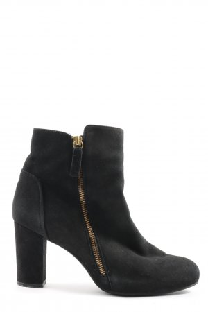 Unisa Reißverschluss-Stiefeletten schwarz Casual-Look